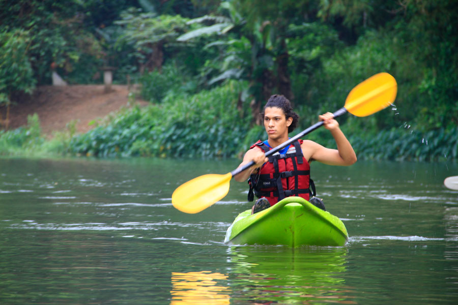 Kayaking at kelani river Image
