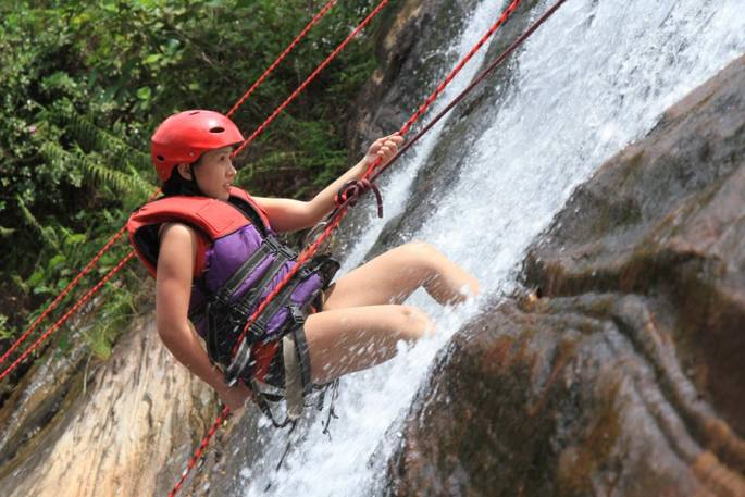 waterfall abseiling Image